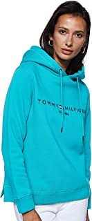 Tommy Hilfiger Women's ESS Long Sleeve Hoodie, Green, Small