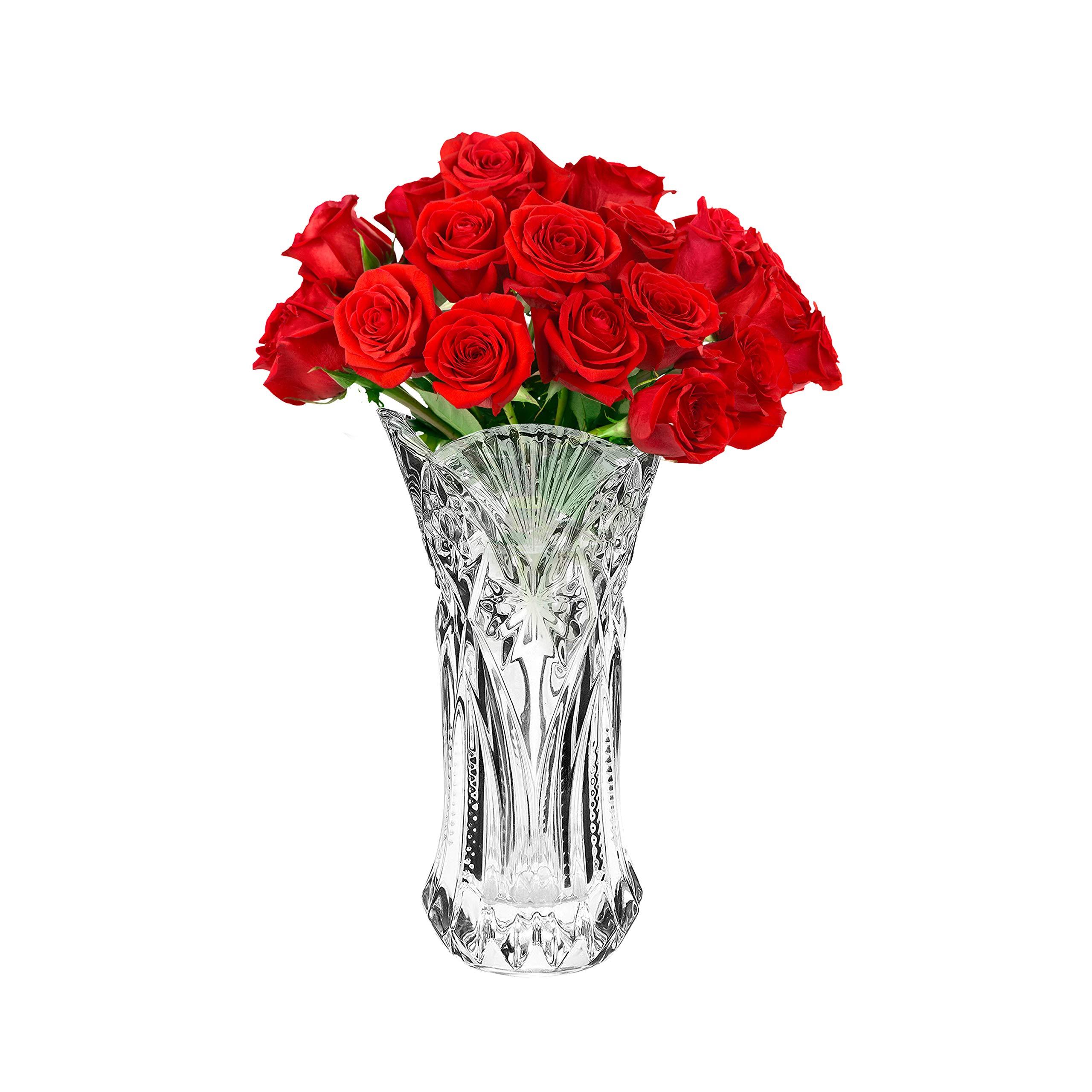 Kurtzy Crystal Flowers Vases 1pcs 29cm Melodia Glass Vases Large Tabletop Vases For Home Graden Church Shop Decorations Luminous Effect Flower Vase Centrepiece For Party Event Decoratives Buy Online In Bosnia