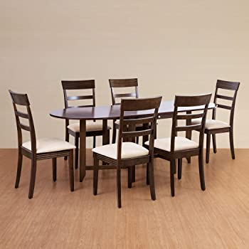 Home Centre Butterfly 2 4 6 Extendable Dining Table Set With 6 Chairs Amazon In Home Kitchen