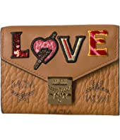 MCM - Patricia Love Patch Flap Wallet/Trifold Small