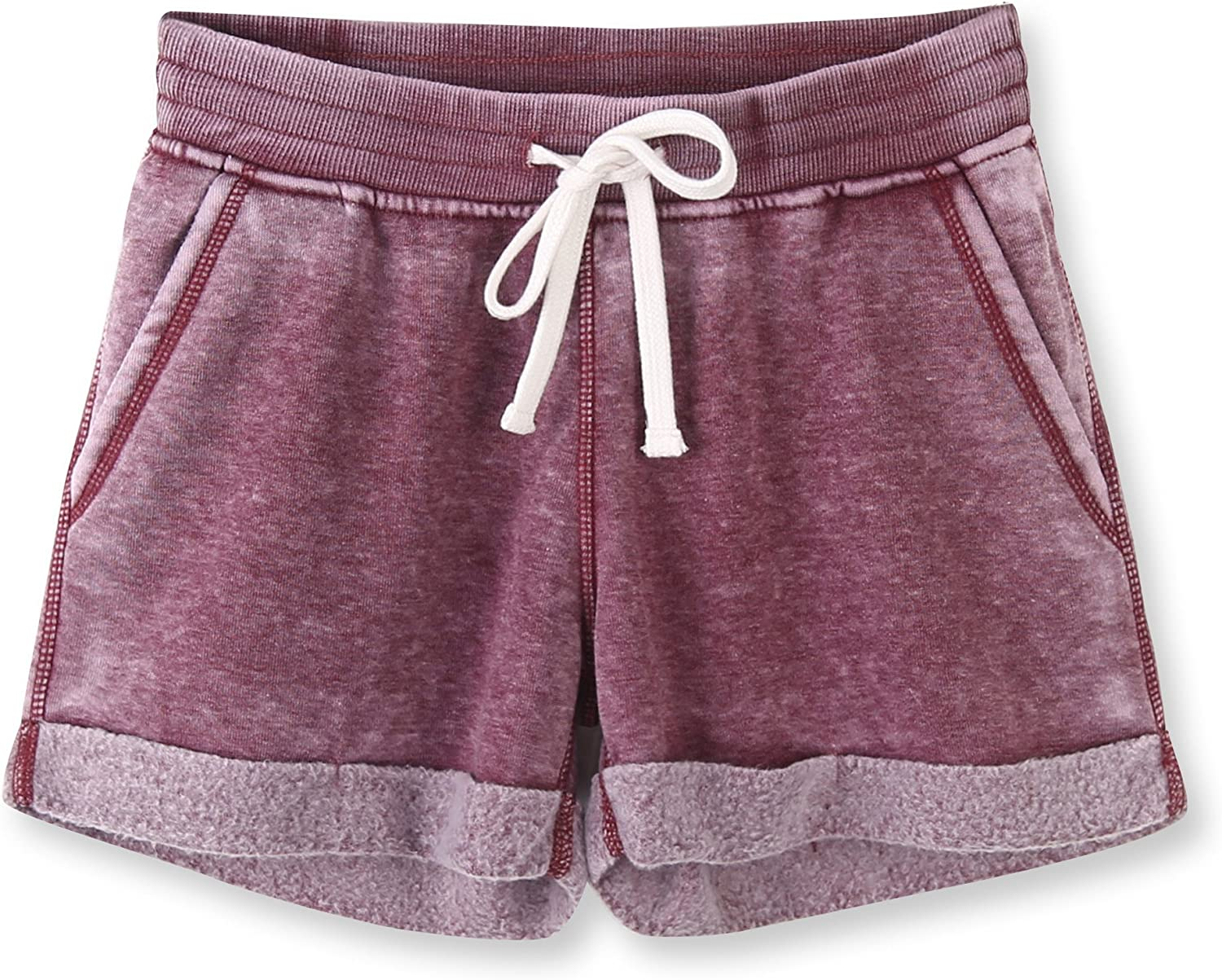 Vetemin Women's Cotton Stretch Activewear Lounge Shorts