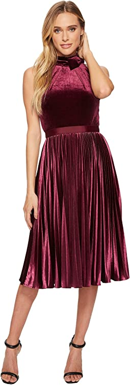Ted Baker - Cornela Pleated Velvet Midi Dress