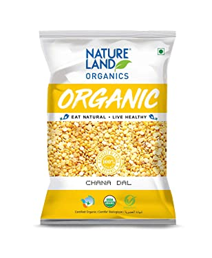 Natureland Organics Chana Dal 500 Gm - Organic Healthy Pulses