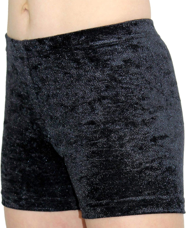 Shorty Kinder Hipster kurze M/ädchen Sporthose Crash Samt bi-elastisch Fitnesshose H/üfthose Hotpants Turnhose Gymnastikhose Shorts