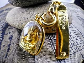 Thai Amulet Necklace Thai Jewelry 22K Gold Diamond Thai Amulet Bring Luck-Ganesha
