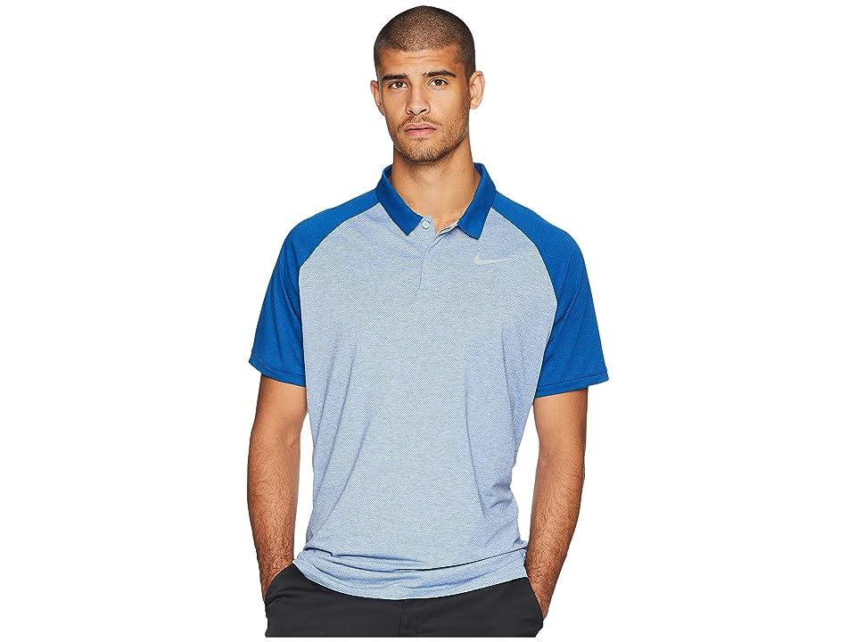 Nike Golf Dry Polo Raglan (Royal Tint/Gym Blue/Heather/Flint Silver) Men