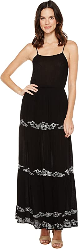 Blaine Maxi Dress with Embroidery