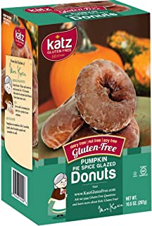 Katz Gluten Free Pumpkin Spice Glazed Donuts | Dairy, Nut, Soy and Gluten Free | Kosher (3 Packs of 6 Donuts, 10.5 Ounce Each)
