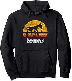 Distressed Texas Vintage Oil Pump Vintage Drilling Patch Pullover Hoodie
