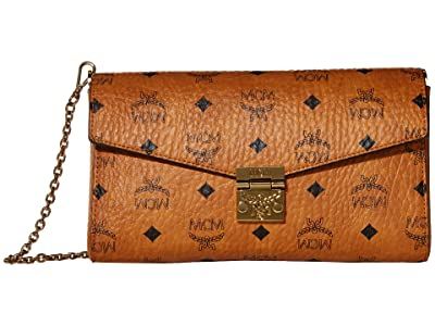 MCM Millie Visetos Small Crossbody Medium (Cognac) Handbags