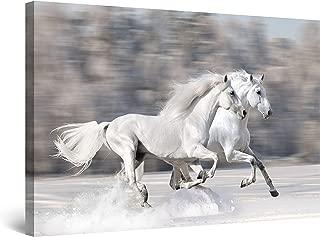 STARTONIGHT Canvas Wall Art - Horses Running Fast, Horses Framed 32 x 48 Inches