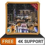 無料の雷雨ドロップHD-HDR 4K TV、8K TV、壁紙としてのクールな雨のシーンで火のテレビ画面を濡らし、クリスマス休暇の装飾、調停と平和のテーマ