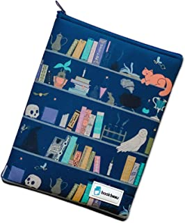 Book Beau Zippable Portable Book Protection Sleeve Cover, for Hardback, Paperback Books, Gaming Electronics and More, Indi...