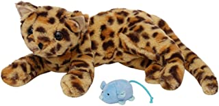 Manhattan Toy 160140 Loki Leopard Stuffed Animal Cat Front Paws and Magnetic Mouse Toy, Multicolour