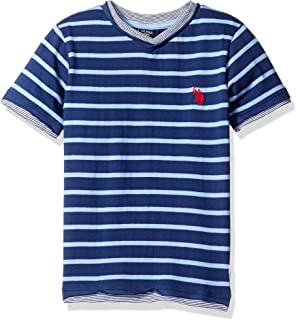 Boys' Engineered Stripe V-Neck T-Shirt