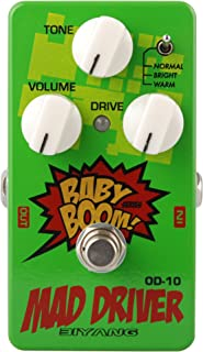 Overdrive Pedal, Biyang guitar overdrive pedal, Mad Driver Baby Boom overdrive guitar pedal, 3 Modes guitar overdrive with ture Bypass (OD-10)