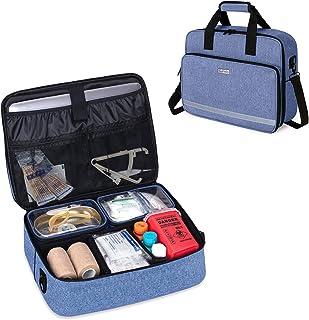 CURMIO Nursing Bags for Nurses Home Health, Small Medical Supplies Bag with 2 Detachable Transparent Pouches for Home Visi...