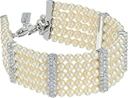 Multi Strand Pear Pave Bar Bracelet
