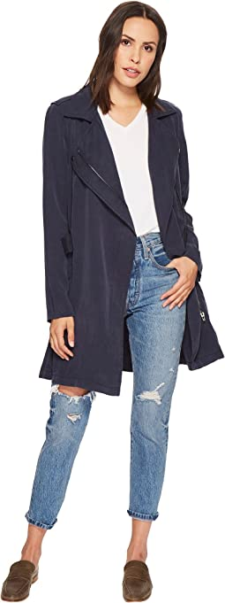 Blank NYC Tencel Short Lightweight Trench in High Seas