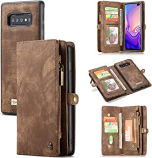 Galaxy S10e Wallet Case,AKHVRS Premium Leather Folding Flip Wallet Case Cover for S10e Card Slots Magnetic Closure Protect...