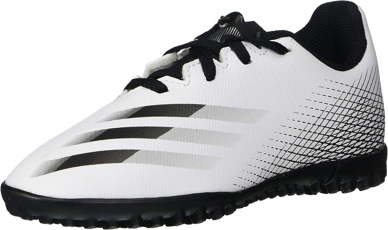 トレンド 新登場 adidas Boy's X GHOSTED.4 Soccer Shoe White L Silver 12.5 Black