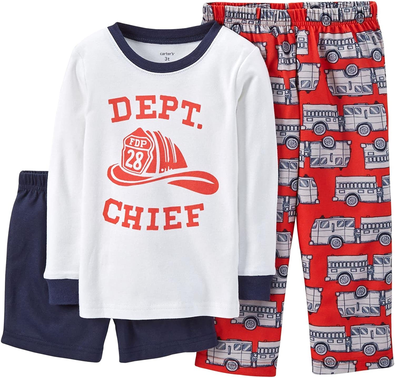 Carter's Baby Boys' 3 Piece Graphic PJ Set (Baby) - Dept Chief