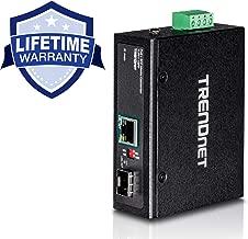 TRENDnet Industrial SFP to Gigabit PoE+ Media Converter, IP30 Rated Housing, Operating temperature range -40°– 75 °C to (-40° – 167 °F), TI-PF11SFP