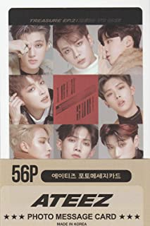 K-POP Group 2019 New Photo Message Card 56pcs set (Postcard / 56sheets) (ATEEZ)
