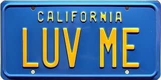 Celebrity Machines National Lampoon's Vacation   Christie Brinkley's Ferarri 308GTSi   LUV ME   Metal Stamped Vanity Prop License Plate