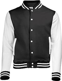 Awdis Unisex Varsity Jacket (L) (Jet Black/White)