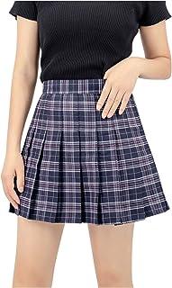 US Size Plaid Skirt High Waist Japan School Uniform...
