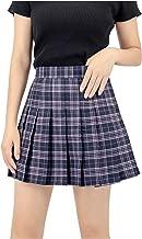 blue check school skirt