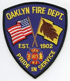 Embroidered Patch - Patches for Women Man - Oaklyn New Jersey NJ Pride in Service FIRE