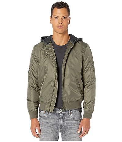 The Kooples Zip-Up Jacket w/ Hood (Khaki) Men
