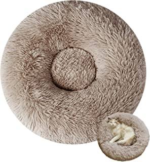 Sponsored Ad - Panda Grip Cat Beds for Indoor Cats Round Faux Fur Donut Cuddler Dog Beds for Small Dog Soft Fluffy Calming...