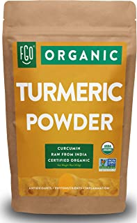 Organic Turmeric Root Powder w/ Curcumin | Lab Tested for Purity | 100% Raw from India | 16oz/453g (1lb) Resealable Kraft ...