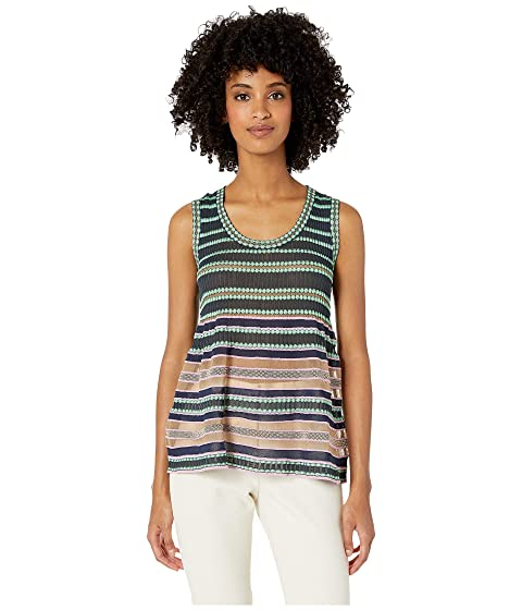 M Missoni Sleeveless Top in Sheer Stripes