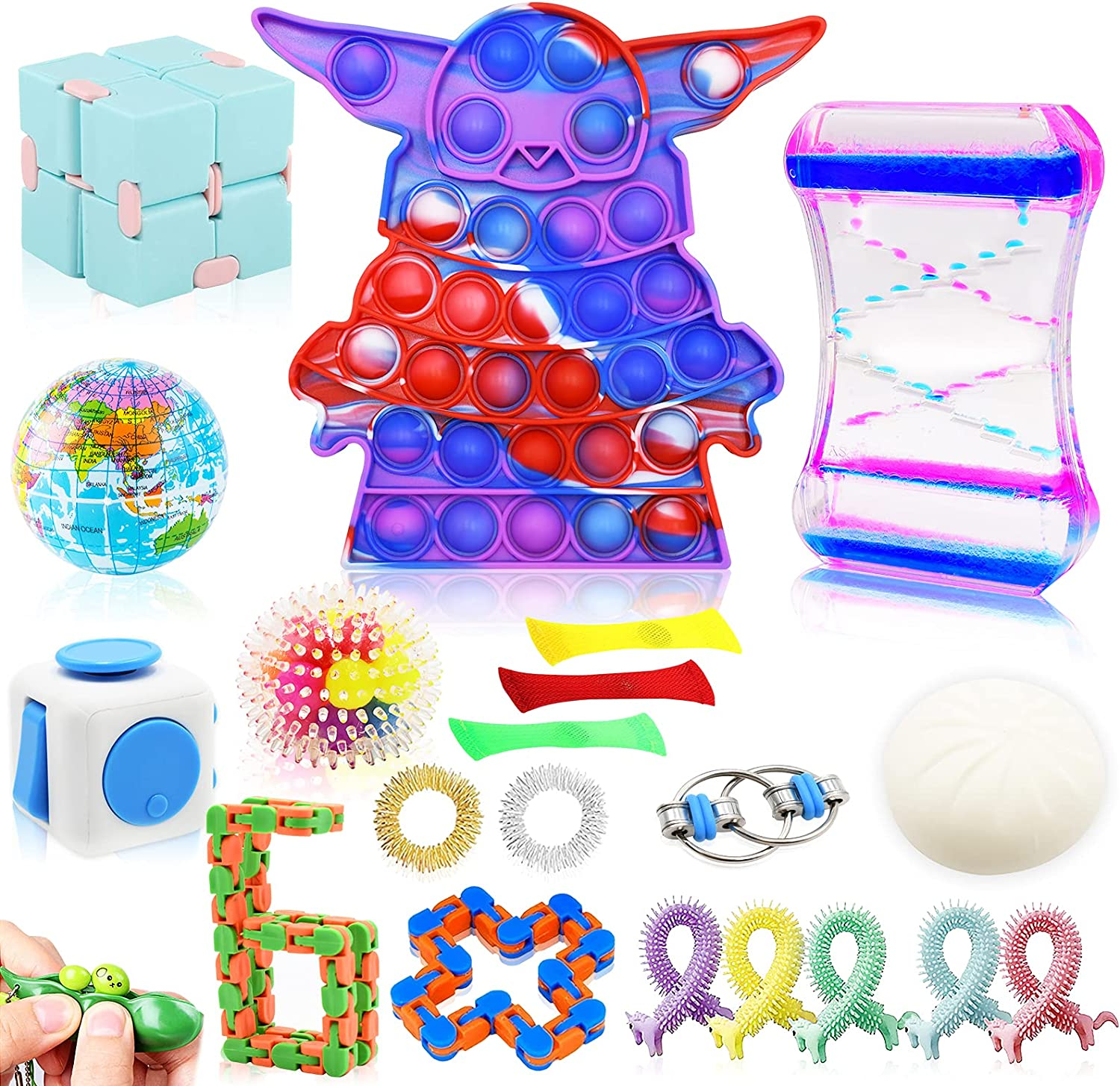 EPPO 21Pcs Limited price Fidget Toy Set Pop Stress Relief and Anxiety Seattle Mall Bubble