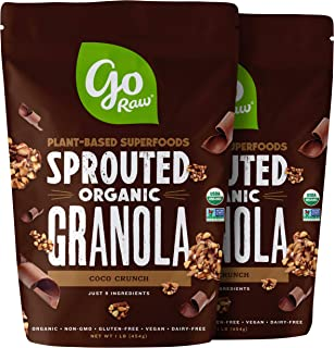 Go Raw Gluten Free Granola, Coco Crunch   Organic   Sprouted   Superfood (2 Bags)
