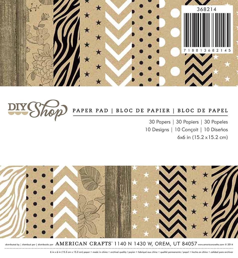 American Crafts 6 X 6 Printed Kraft Paper Pad