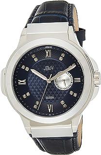 JBW Mens Quartz Watch, Analog Display and Leather Strap