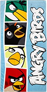 Rovio Angry Birds Blocks Fiber Reactive Beach Towel, Blue