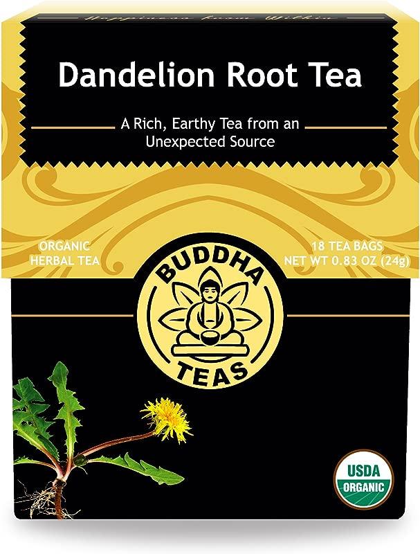 Organic Dandelion Root Tea 18 Bleach Free Tea Bags Caffeine Free Tea With A Rich Earthy Taste Natural Source Of Vitamins Minerals And Antioxidants Kosher GMO Free