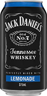 Jack Daniel's Tennessee Whiskey and Lemonade Premixed Cans, 375 ml (Pack Of 24)