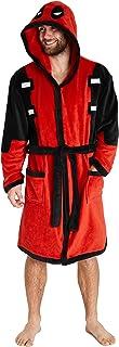 Deadpool Mens Dressing Gowns, Men Fleece Hooded Robe XS-2XL, Fun Gifts