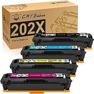 CMYBabee Compatible Toner Cartridges Replacement for HP 202X 202A CF500A CF500X for HP Laserjet Pro M281fdw M254dw M281cdw...