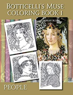 Botticelli's Muse Coloring Book 1: People