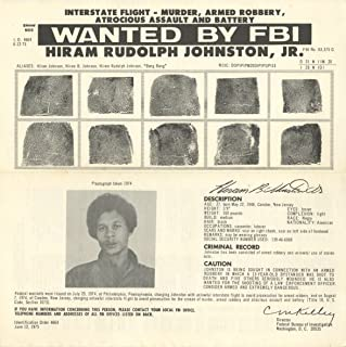Wanted Notice - Hiram Rudolph Johnston, Jr./Murder & Other Charges - FBI - 1975