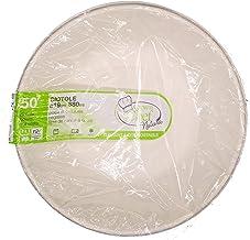 en 13432 Crown 50 fondine /Ø 11,5 Ciotole Piatti Fondi da 250 ml in polpa cellulosa bio 100/% compostabile Umido Robusto 12 gr