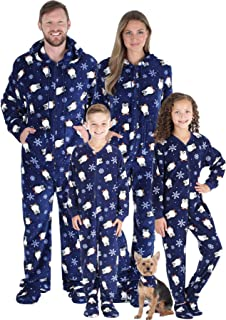 Matching Family Christmas Pajama Sets, Winter Footed Onesies